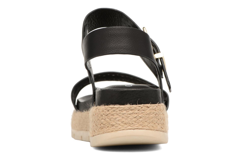 Sandales et nu-pieds Chattawak Justine Noir vue droite