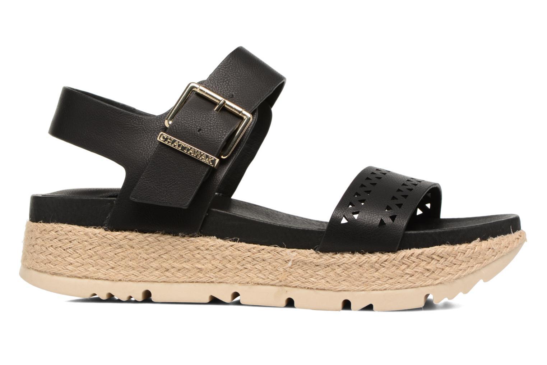 Sandales et nu-pieds Chattawak Justine Noir vue derrière