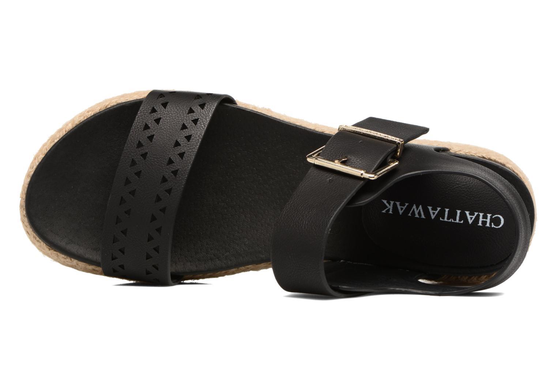 Sandales et nu-pieds Chattawak Justine Noir vue gauche