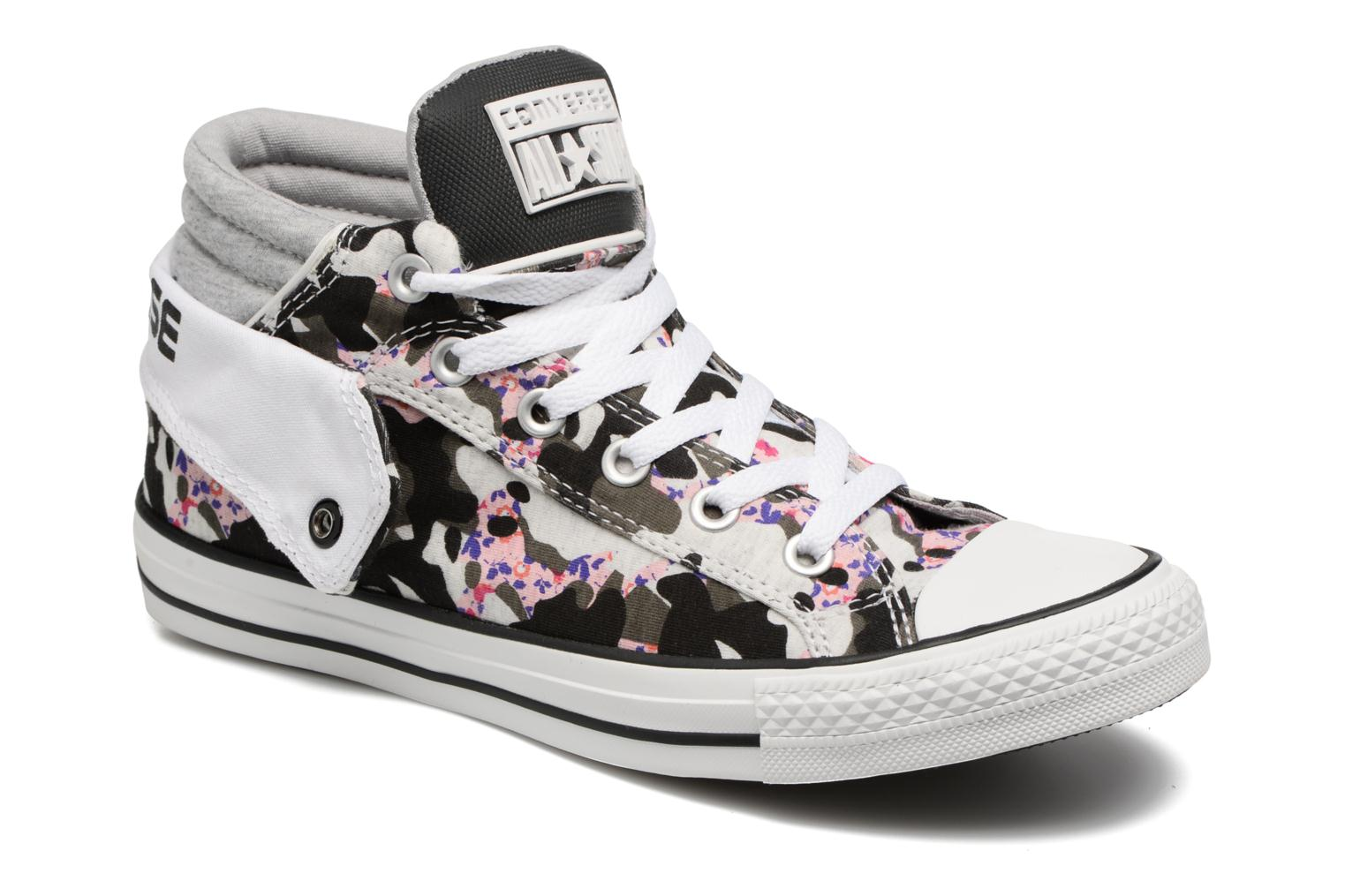 Baskets Converse Chuck Taylor Pc Layer Mid Hi Top Blanc vue détail/paire