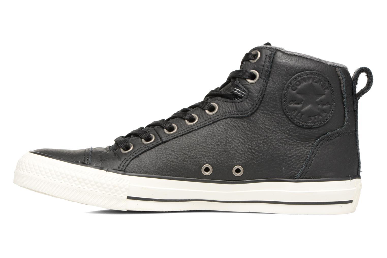 Sneaker Converse Chuck Taylor All Star Asylum Mid Leather schwarz ansicht von vorne