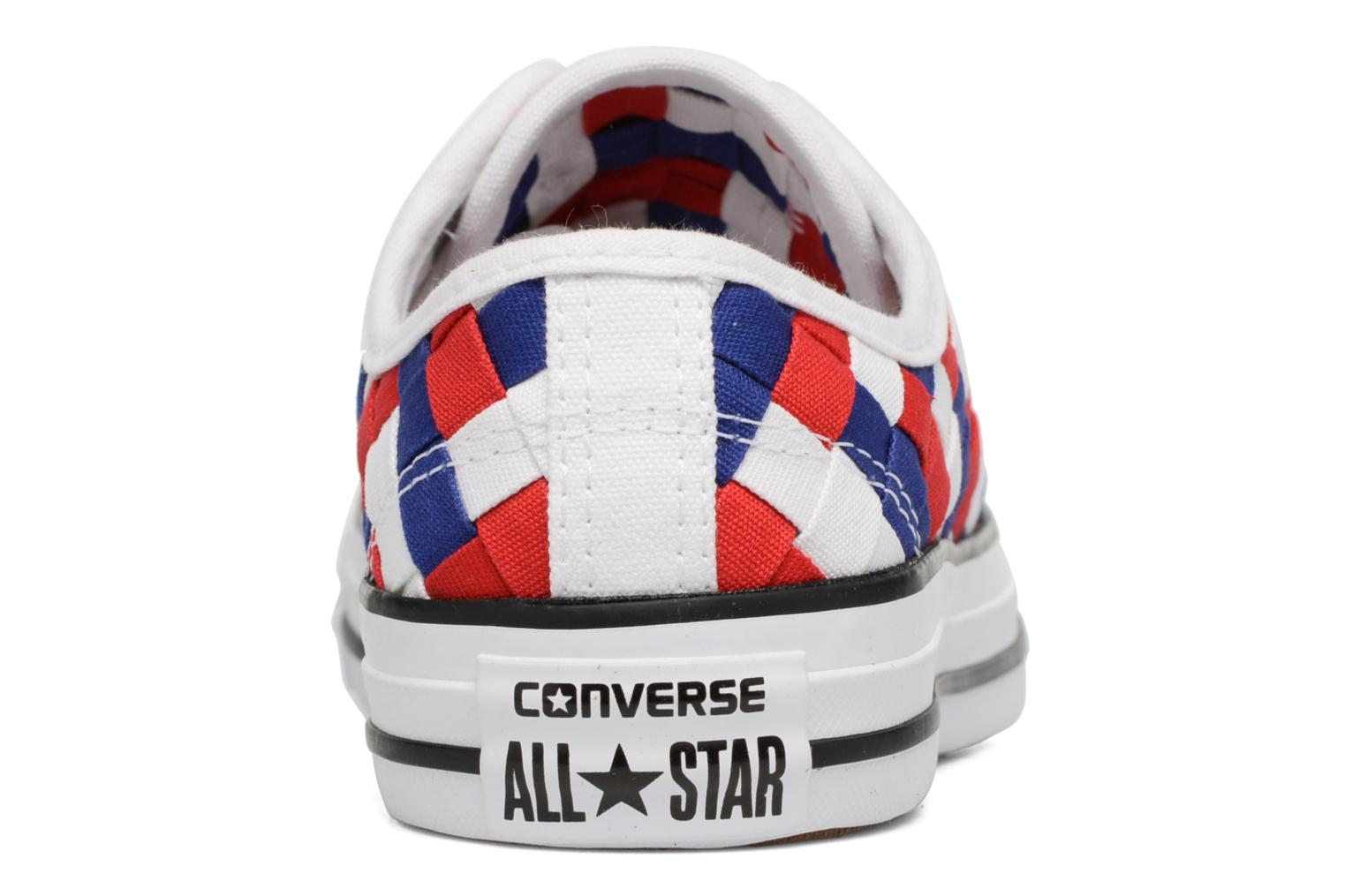 Chuck Taylor All Star Coton Ox Woven Canvas W White/Clematis Blue/Red