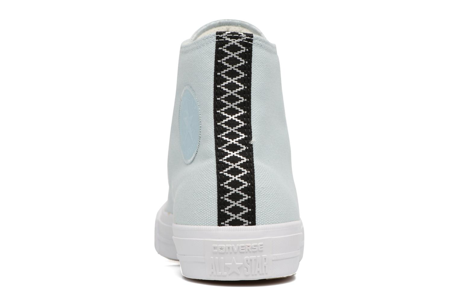 Trainers Converse Chuck Taylor All Star II Hi Shield Lycra M Blue view from the right