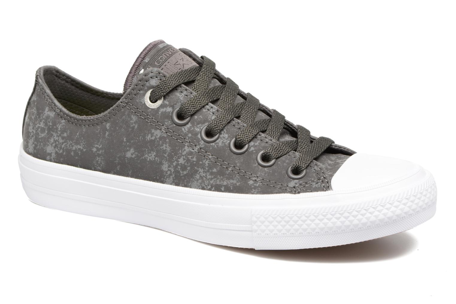 Baskets Converse Chuck Taylor All Star II Ox Reflective Wash W Gris vue détail/paire