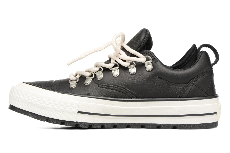 Sneaker Converse Chuck Taylor All Star Descent Quilted Leather Ox W schwarz ansicht von vorne
