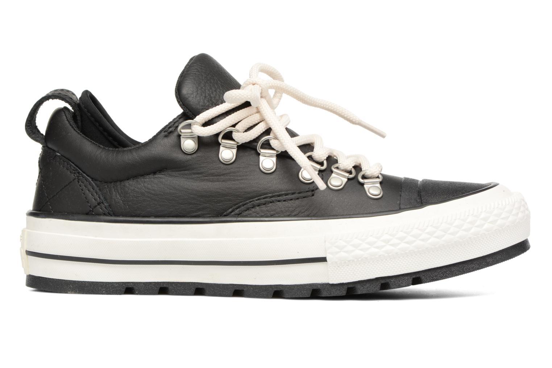 Sneaker Converse Chuck Taylor All Star Descent Quilted Leather Ox W schwarz ansicht von hinten