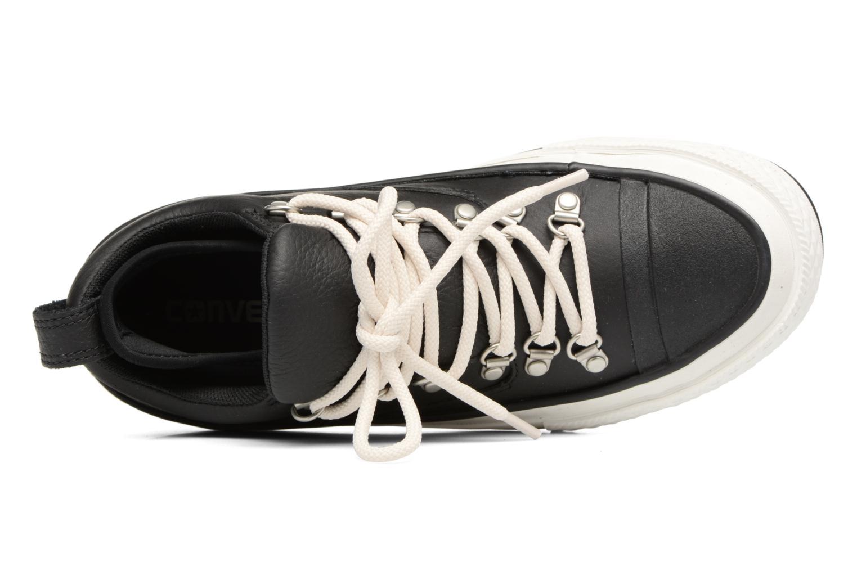 Sneaker Converse Chuck Taylor All Star Descent Quilted Leather Ox W schwarz ansicht von links