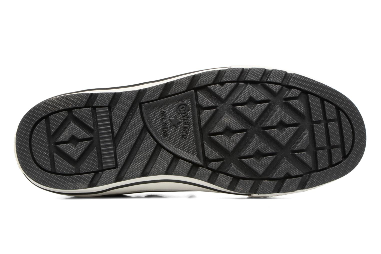 Sneaker Converse Chuck Taylor All Star Descent Quilted Leather Ox W schwarz ansicht von oben