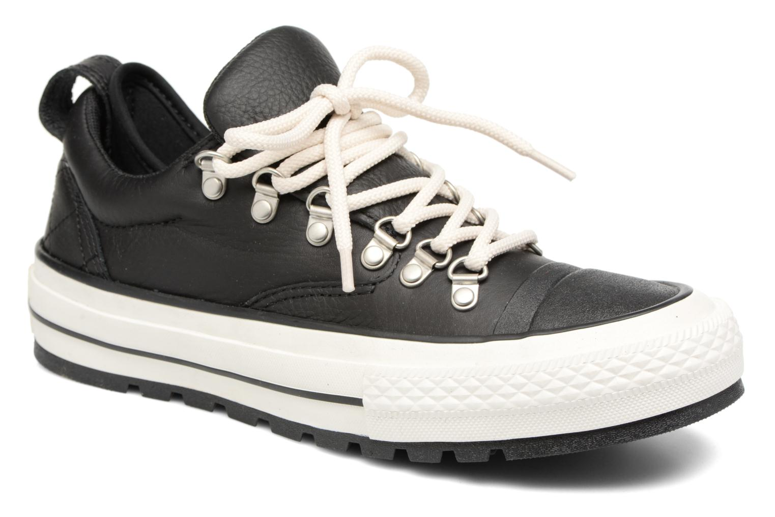 Sneaker Converse Chuck Taylor All Star Descent Quilted Leather Ox W schwarz detaillierte ansicht/modell