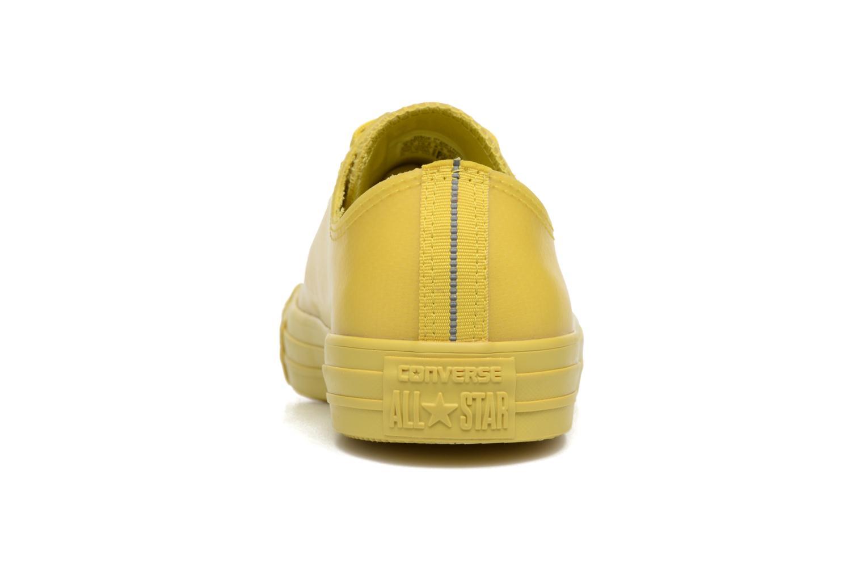 Sneaker Converse Chuck Taylor All Star Rubber Ox gelb ansicht von rechts