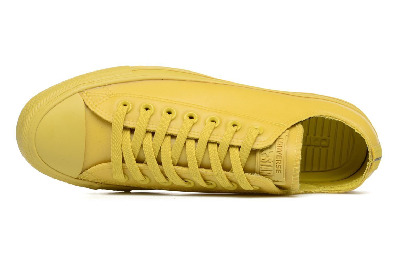 Sneaker Converse Chuck Taylor All Star Rubber Ox gelb ansicht von links