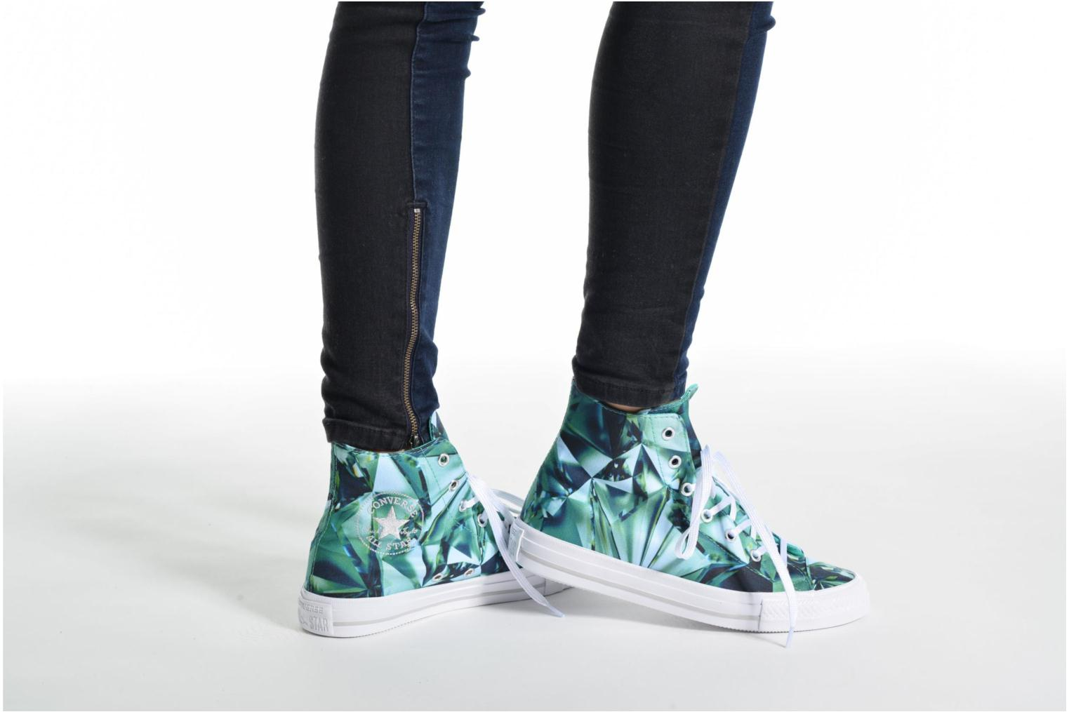 Trainers Converse Chuck Taylor All Star Gemma Hi Graphic Silver view from underneath / model view