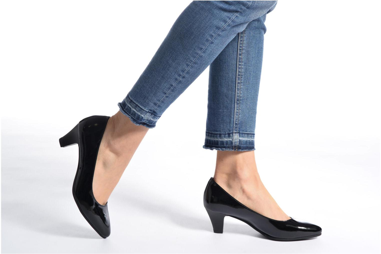 Escarpins Jana shoes Violetta Noir vue bas / vue portée sac