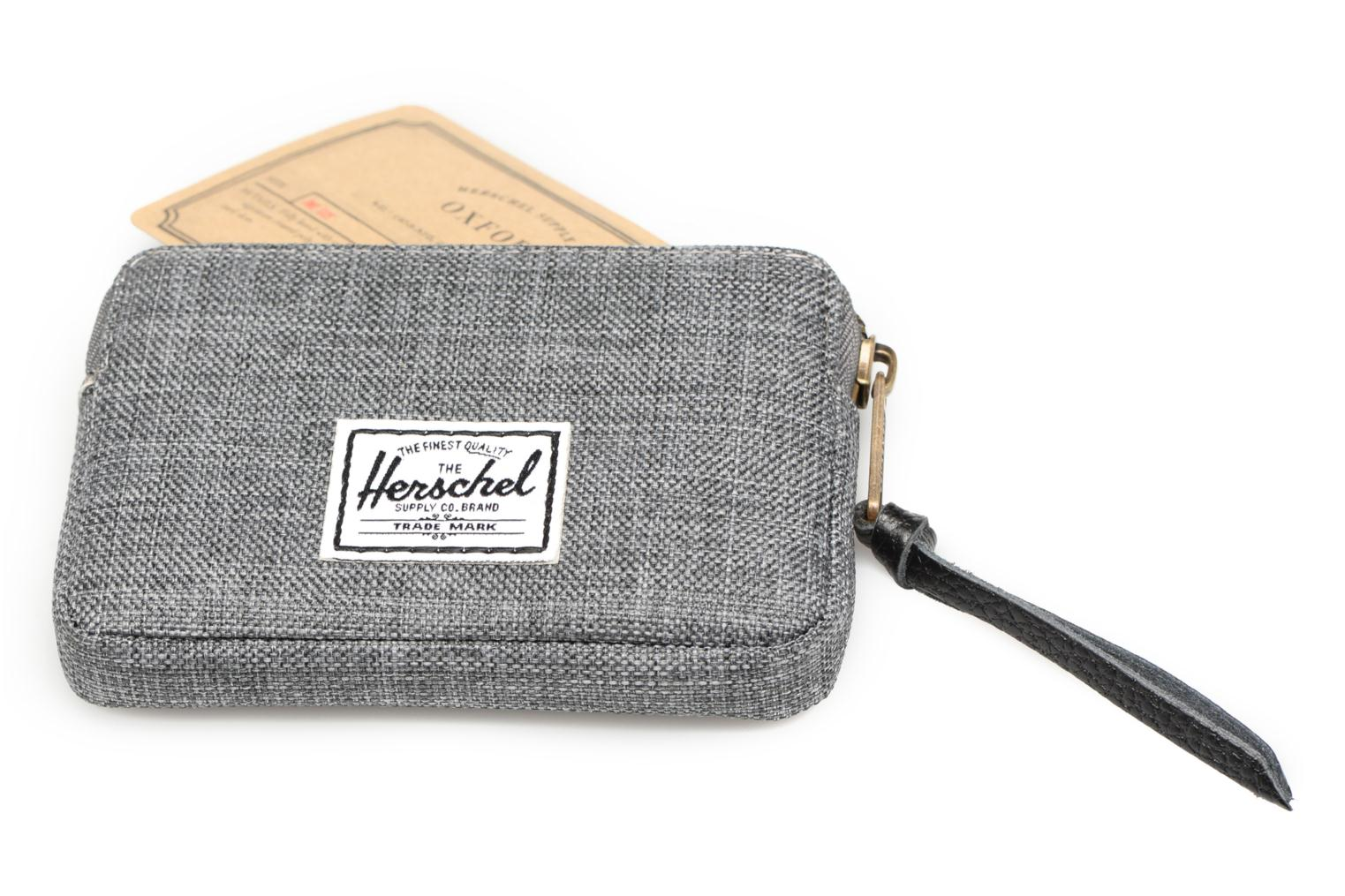 Oxford Pouch Charcoal crosshatch