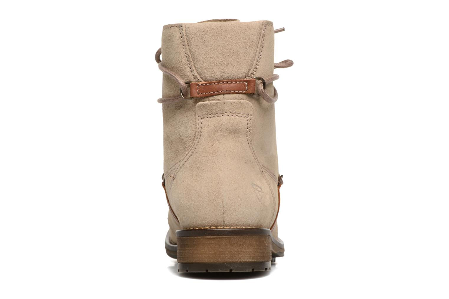 Ankle boots Tamaris Joséphine Beige view from the right
