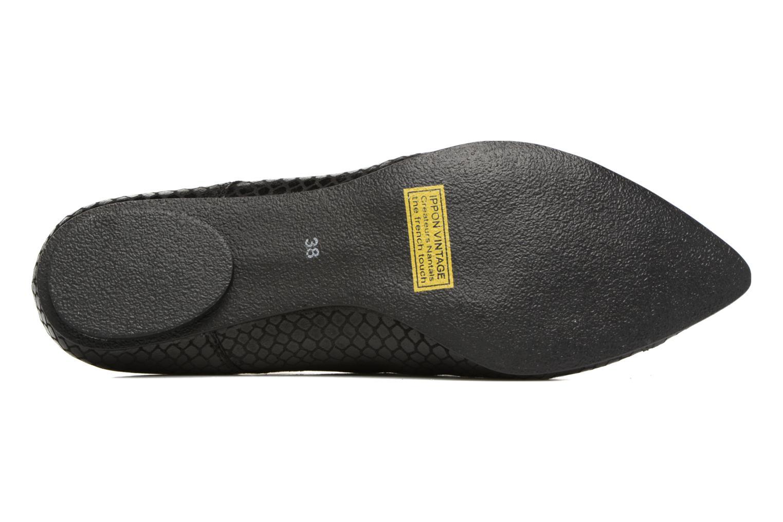 Chaussures à lacets Ippon Vintage Bad Metal Noir vue haut