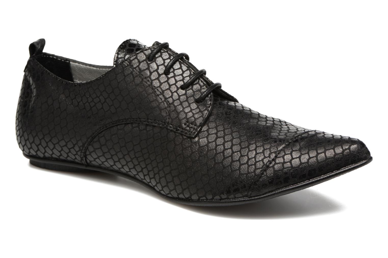 Chaussures à lacets Ippon Vintage Bad Metal Noir vue détail/paire