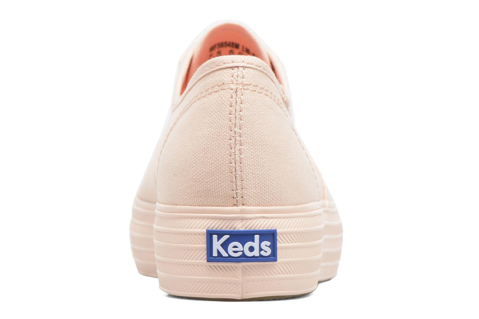 Trainers Keds Triple Mono Pink view from the right