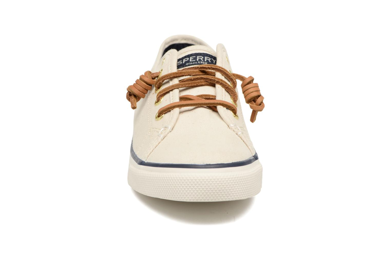 Baskets Sperry Seacoast Beige vue portées chaussures