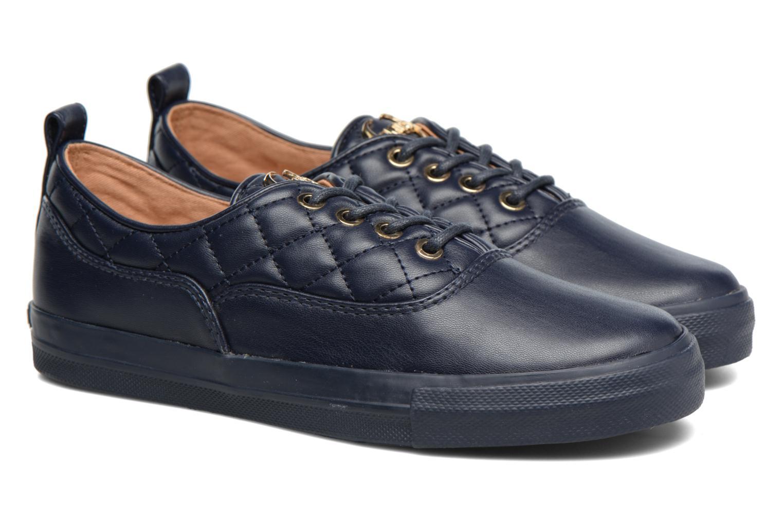 Baskets Love Moschino Superquilted Sneaker Bleu vue 3/4