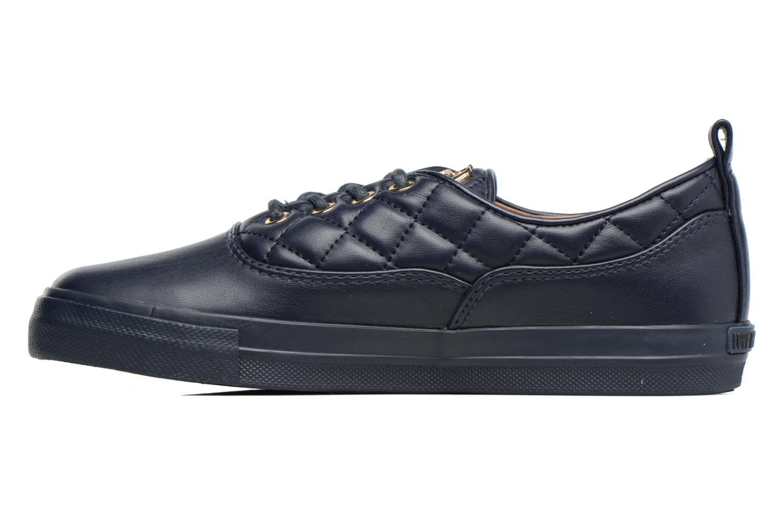 Baskets Love Moschino Superquilted Sneaker Bleu vue face