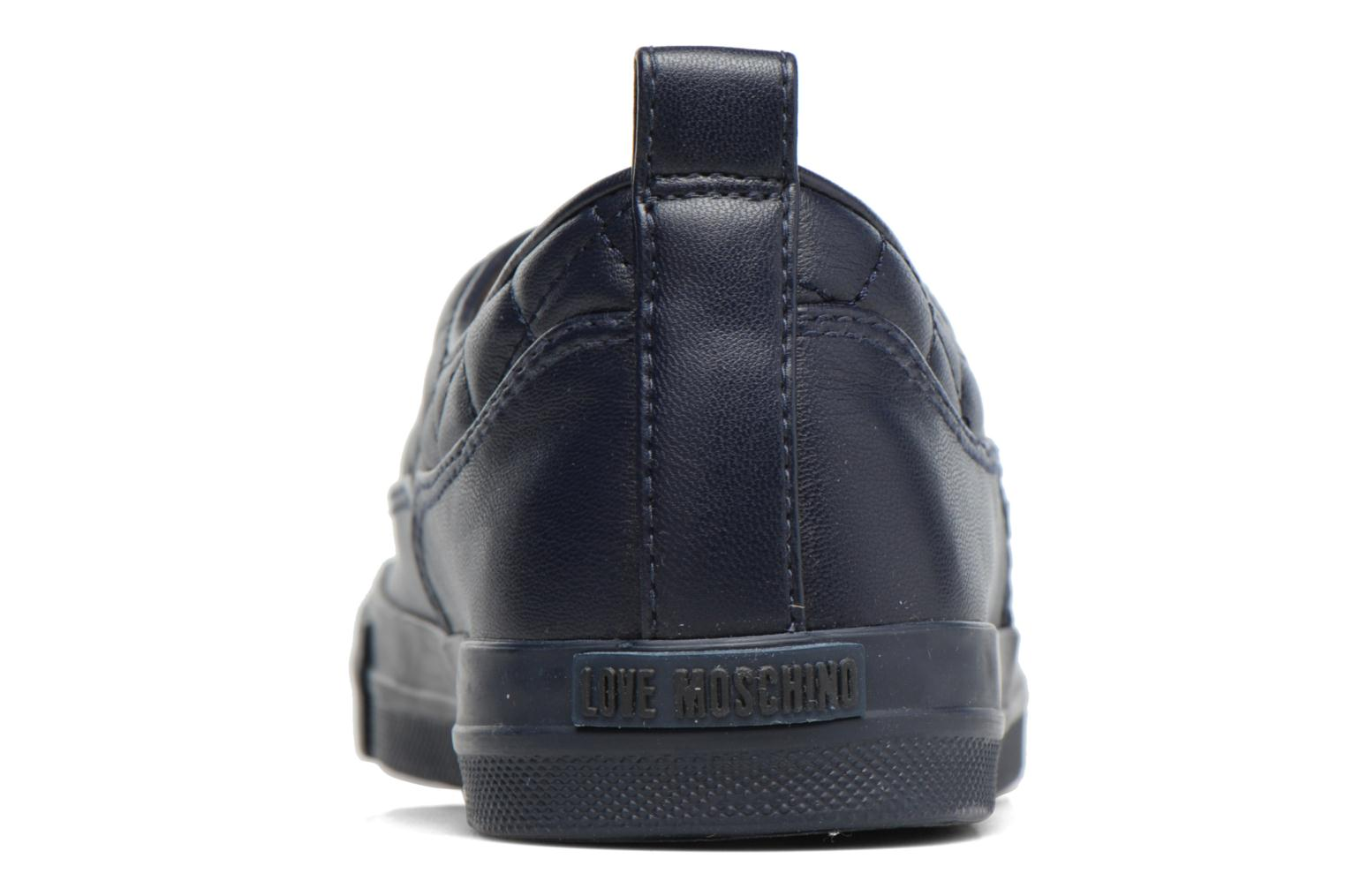 Trainers Love Moschino Superquilted Sneaker Blue view from the right