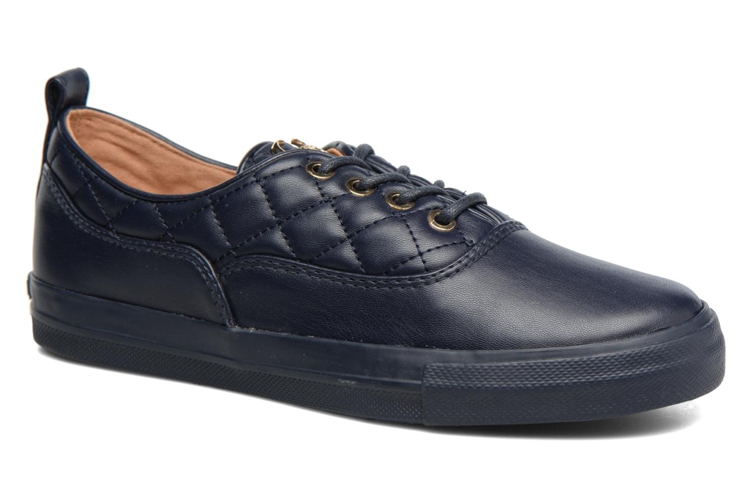 Trainers Love Moschino Superquilted Sneaker Blue detailed view/ Pair view