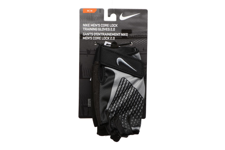Divers Nike MEN'S CORE LOCK TRAINING GLOVES 2.0 Noir vue portées chaussures
