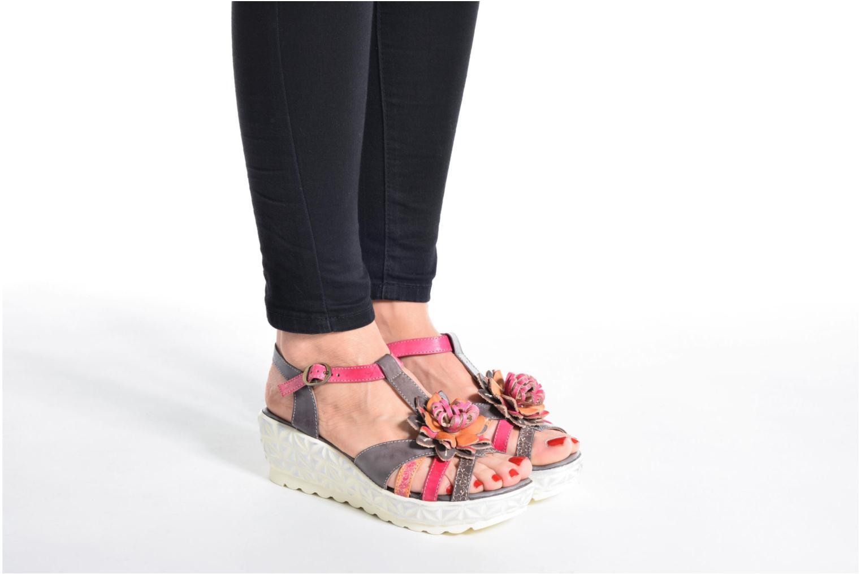 Sandales et nu-pieds Laura Vita Siecle Gris vue bas / vue portée sac