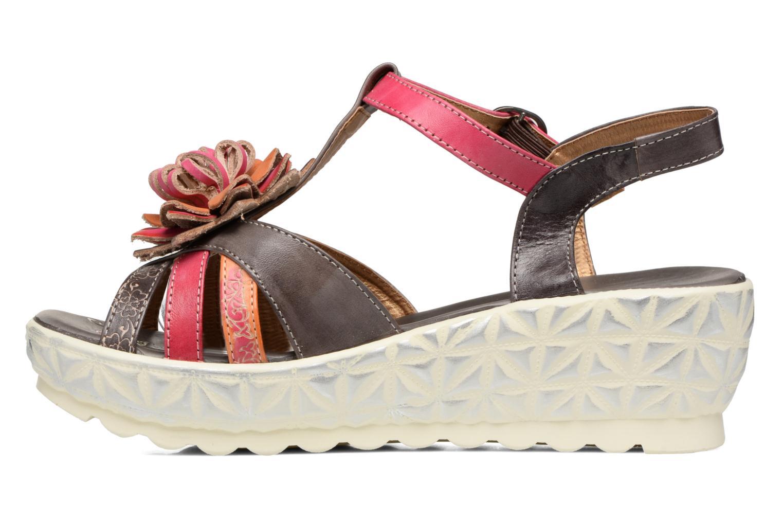 Sandales et nu-pieds Laura Vita Siecle Gris vue face