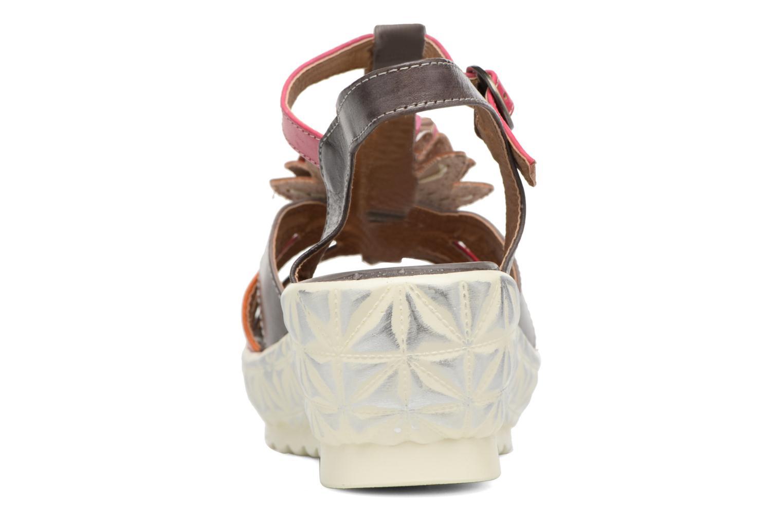 Sandales et nu-pieds Laura Vita Siecle Gris vue droite