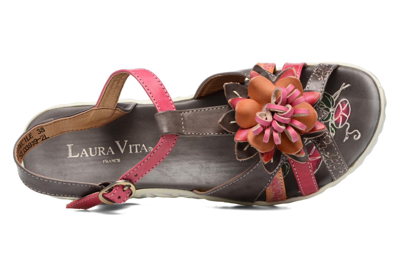 Sandales et nu-pieds Laura Vita Siecle Gris vue gauche