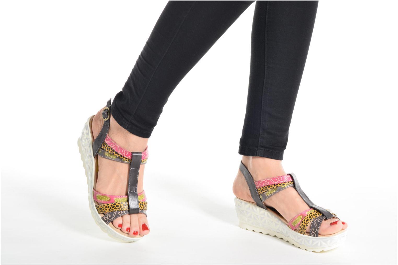 Sandales et nu-pieds Laura Vita Siege Multicolore vue bas / vue portée sac