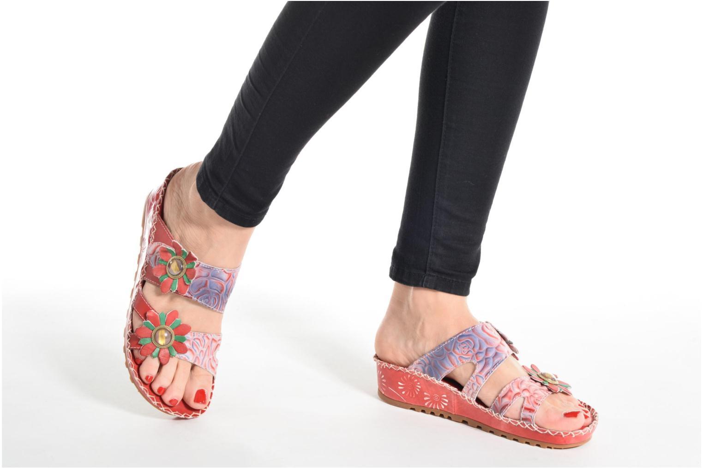 Sandales et nu-pieds Laura Vita Valette Rouge vue bas / vue portée sac