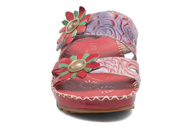 Sandales et nu-pieds Laura Vita Valette Rouge vue portées chaussures