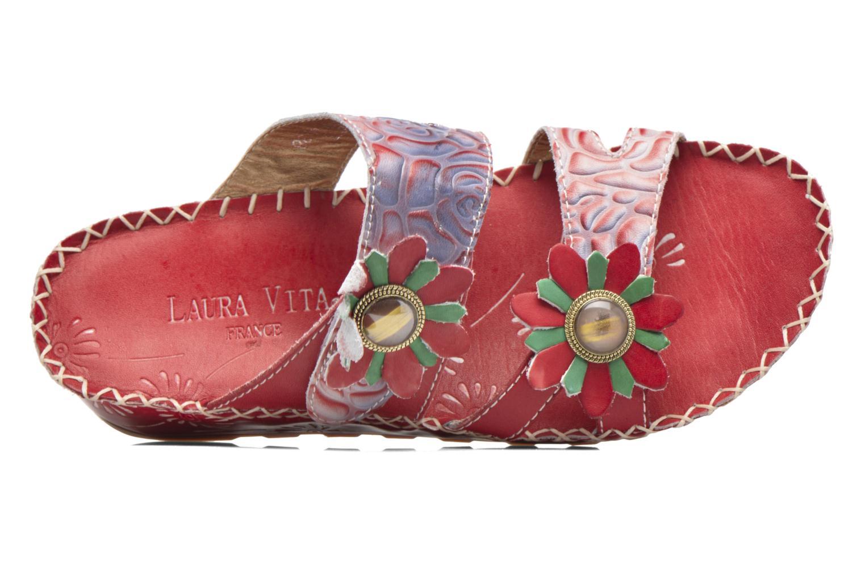 Sandales et nu-pieds Laura Vita Valette Rouge vue gauche