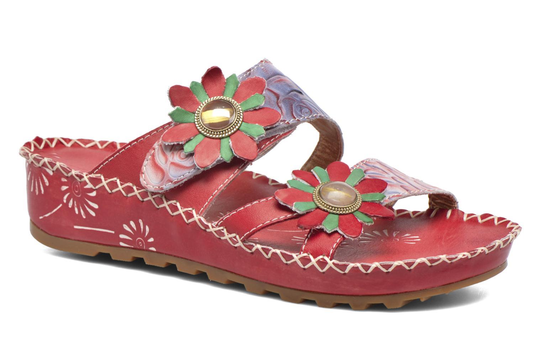 Sandales et nu-pieds Laura Vita Valette Rouge vue détail/paire