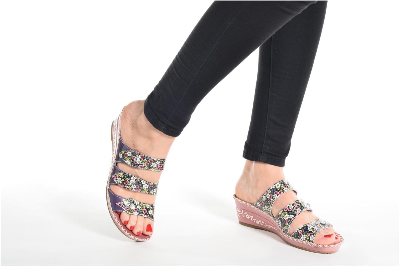 Sandales et nu-pieds Laura Vita Vally Bleu vue bas / vue portée sac