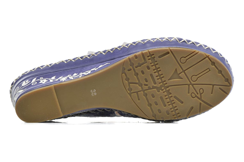 Sandales et nu-pieds Laura Vita Vally Bleu vue haut