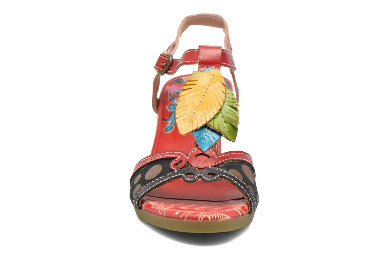 Sandales et nu-pieds Laura Vita Veli Rouge vue portées chaussures