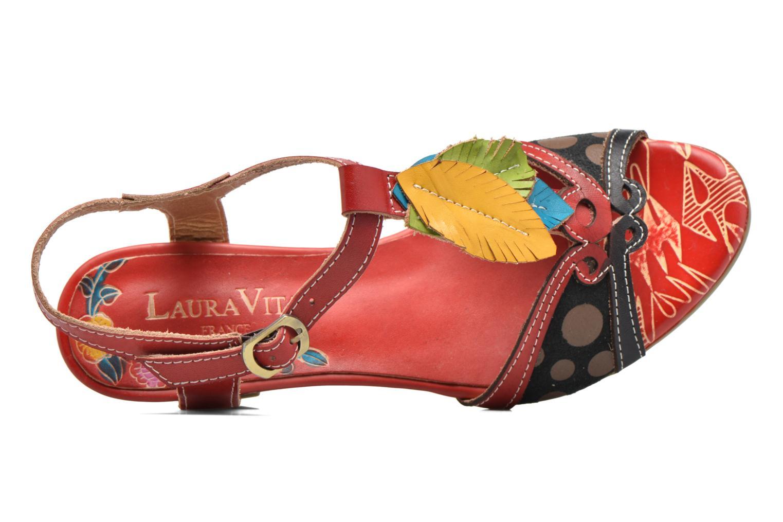 Sandales et nu-pieds Laura Vita Veli Rouge vue gauche