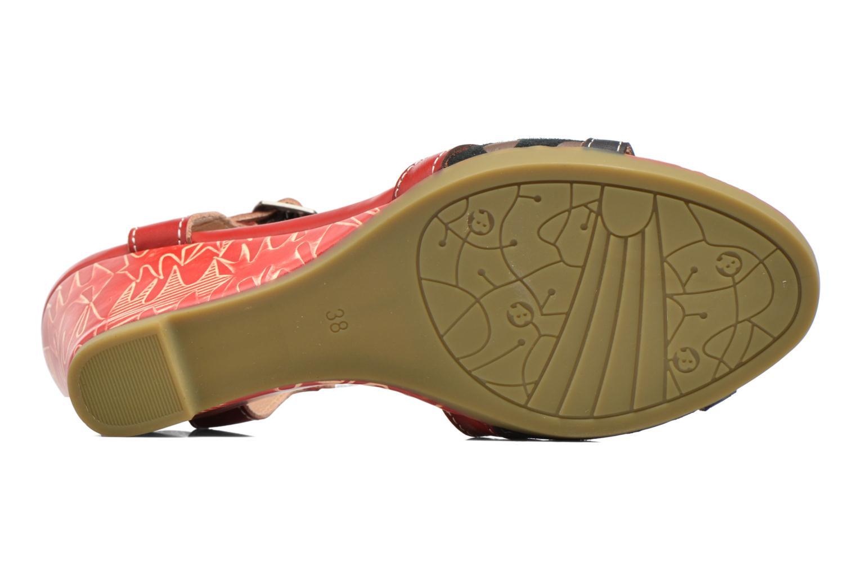 Sandales et nu-pieds Laura Vita Veli Rouge vue haut