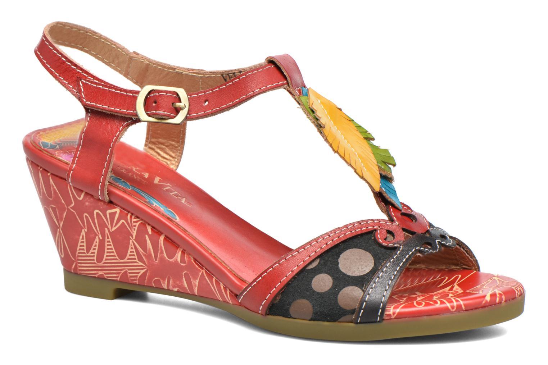 Sandales et nu-pieds Laura Vita Veli Rouge vue détail/paire
