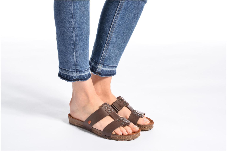 Sandales et nu-pieds Art Creta 418 Marron vue bas / vue portée sac