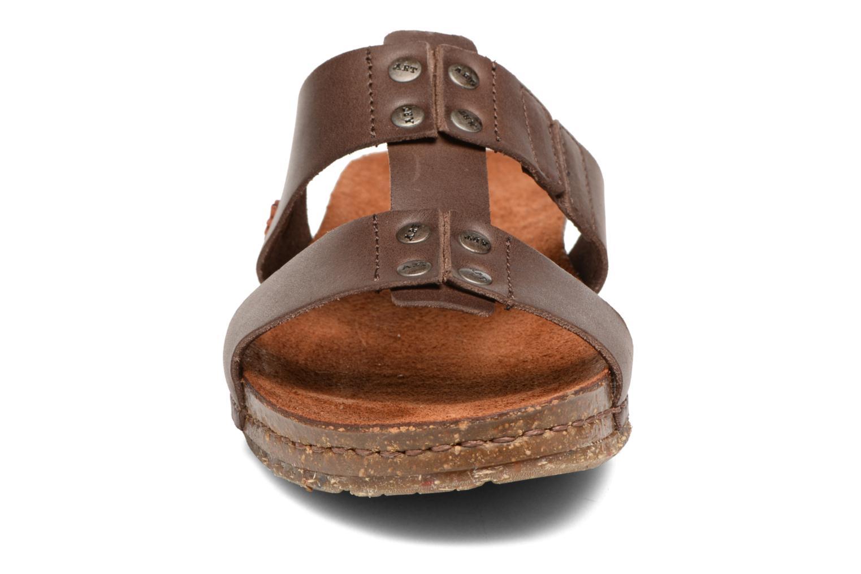 Sandales et nu-pieds Art Creta 418 Marron vue portées chaussures