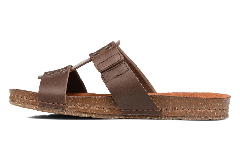 Sandales et nu-pieds Art Creta 418 Marron vue face
