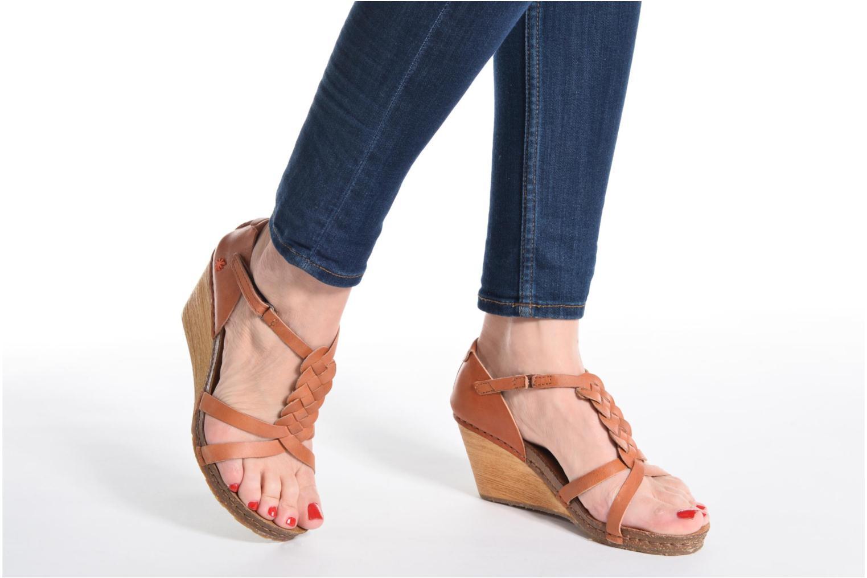 Sandales et nu-pieds Art Valby 438 Marron vue bas / vue portée sac