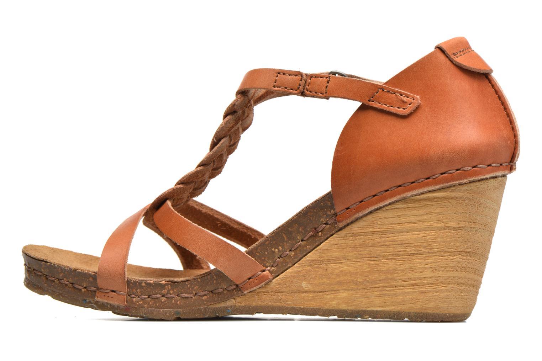 Sandales et nu-pieds Art Valby 438 Marron vue face