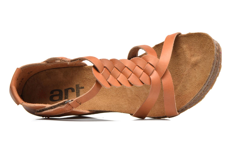 Sandales et nu-pieds Art Valby 438 Marron vue gauche
