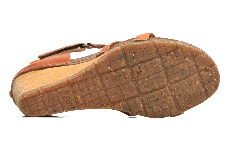 Sandales et nu-pieds Art Valby 438 Marron vue haut